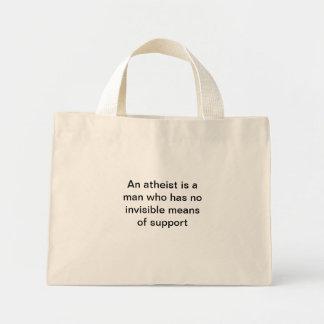 Un ateo es un hombre que tiene… bolso bolsa tela pequeña