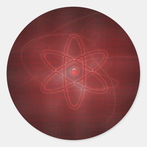 Un átomo etiqueta redonda