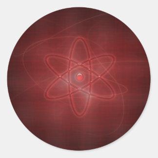 Un átomo pegatina redonda
