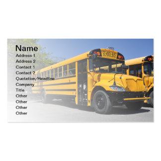 un autobús escolar amarillo grande tarjetas de visita