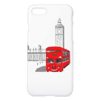 Un autobús sonriente de Londres, Big Ben en fondo Fundas