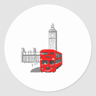 Un autobús sonriente de Londres Pegatinas