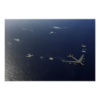 Un avión 2 de la fuerza aérea de los E.E.U.U.B-52 Póster