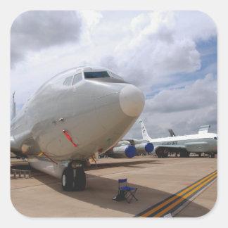 Un avión de la junta de remache de RC-135V/W Pegatina Cuadrada
