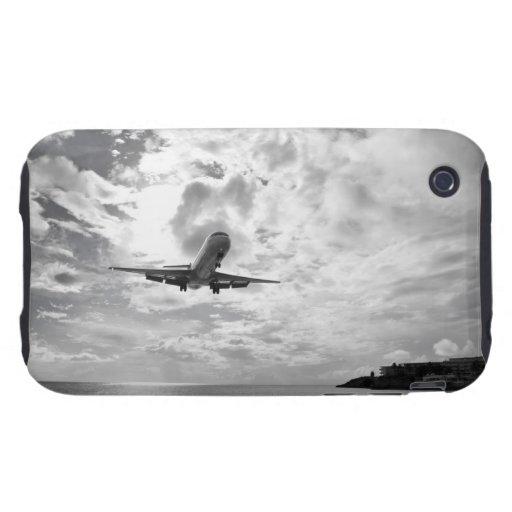Un avión de pasajeros viene adentro para un tough iPhone 3 cárcasas