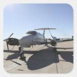 Un avión de rey Air de UC-12F Calcomanías Cuadradass