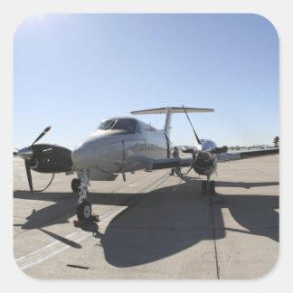 Un avión de rey Air de UC-12F Pegatina Cuadrada