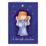 Un azul silencioso de la tarjeta de felicitación d