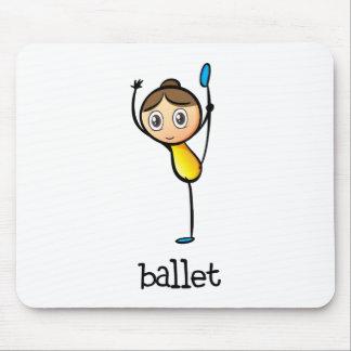 Un bailarín de ballet de sexo femenino alfombrillas de ratón