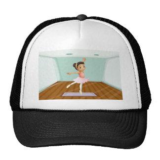 Un baile joven del bailarín de ballet sobre la gorra