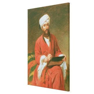 Un bajá turco impresión en lienzo
