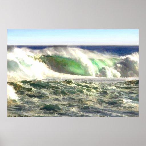 Un balanceo gigante de la onda adentro a apuntalar posters