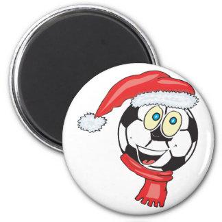 Un balón de fútbol de felices Navidad que lleva un Imán Para Frigorífico