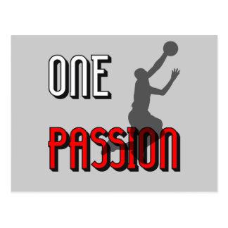Un baloncesto de la pasión tarjetas postales