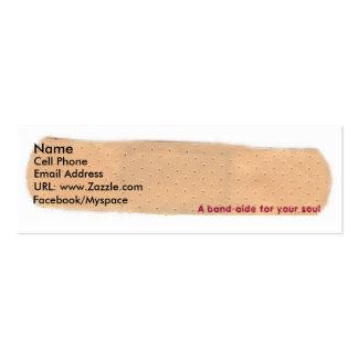 Un banda-asistente para su tarjeta del perfil del tarjetas de visita mini