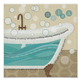 Un baño de relajación póster