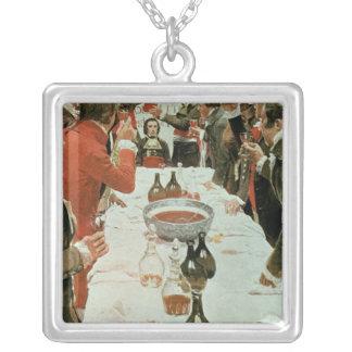 Un banquete al ejemplo de Genet de Washington Colgante Cuadrado