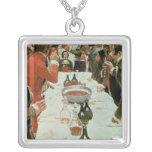 Un banquete al ejemplo de Genet de Washington Collar Plateado