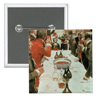Un banquete al ejemplo de Genet de Washington Pin Cuadrado