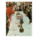 Un banquete al ejemplo de Genet de Washington Tarjetas Postales