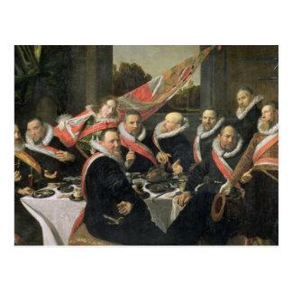 Un banquete de los oficiales de San Jorge Militi Postales