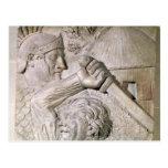 Un bárbaro que lucha a un legionario romano tarjetas postales