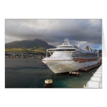 Un barco de cruceros atracado en Barbados Felicitacion