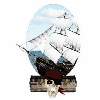 Un barco pirata fotoescultura vertical