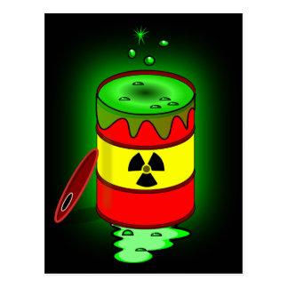 Un barril de basura tóxica postales