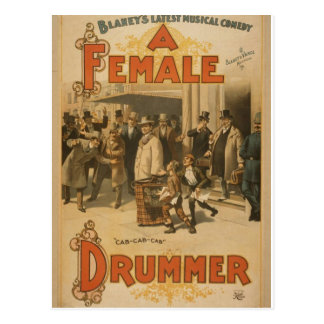 """Un batería de sexo femenino, teatro retro del """"Tax Postales"""