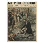 Un bautismo adventista en el La Marne Postales
