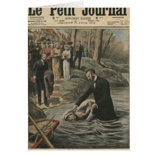 Un bautismo adventista en el La Marne Tarjeta De Felicitación