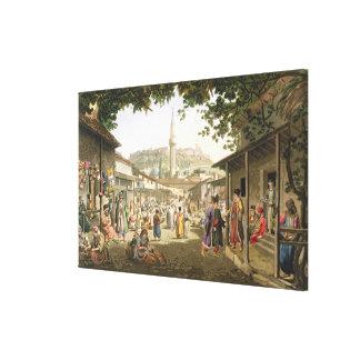 Un bazar en Atenas, platea 1 de la parte 1 de 'opi Impresión En Lona Estirada