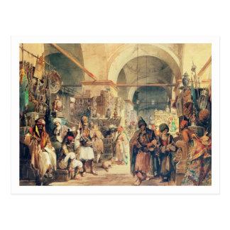 Un bazar turco, 1854 (lápiz y w/c en el papel) tarjetas postales