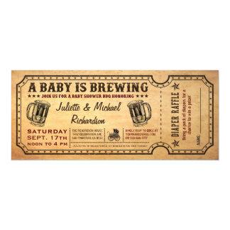 """Un bebé está elaborando cerveza invitaciones del invitación 4"""" x 9.25"""""""