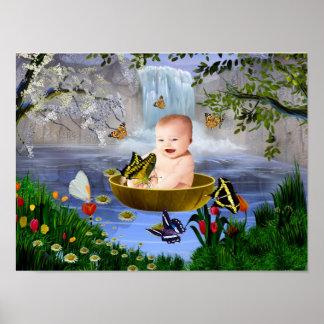 Un bebé lindo de la naturaleza póster
