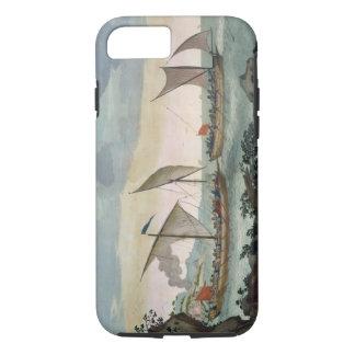Un bergantín que da caza a un Felucca, y alrededor Funda iPhone 7