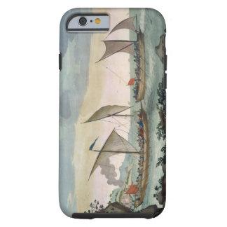 Un bergantín que da caza a un Felucca, y alrededor Funda Resistente iPhone 6