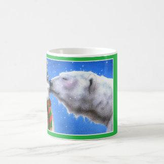 Un beso de la nieve taza básica blanca