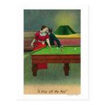 Un beso del rojo tarjetas postales