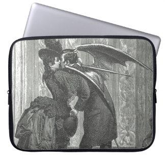 """Un beso, palo del Victorian/vampiro 15"""" manga del  Fundas Computadoras"""