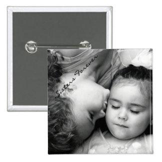 Un beso para de O/Sisters el botón cuadrado para s Pin Cuadrado
