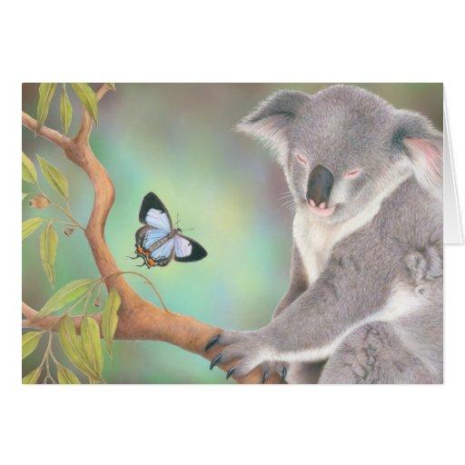 Un beso para la koala felicitacion