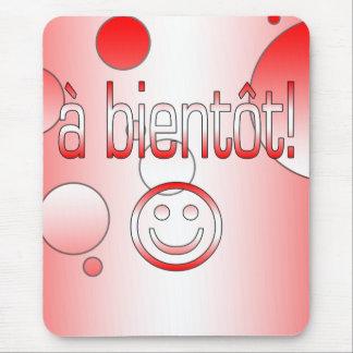 ¡Un Bientôt! La bandera de Canadá colorea arte pop Tapete De Raton