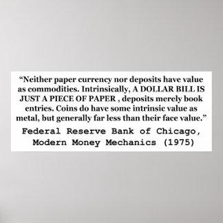 Un billete de dólar es apenas un trozo de papel impresiones