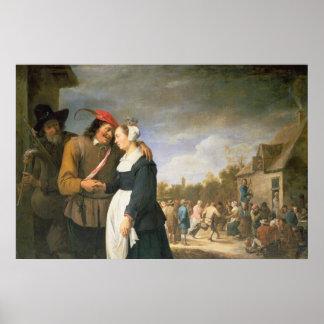 Un boda campesino, 1648 póster
