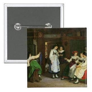 Un boda en Alsacia más baja Pin Cuadrado