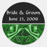 Un boda irlandés etiquetas redondas