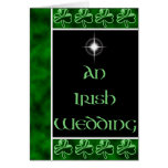 Un boda irlandés tarjetas