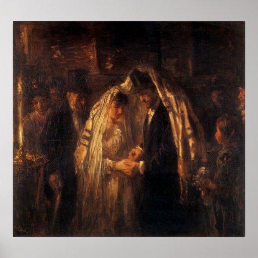 Un boda judío de José Israels - circa 1903 Impresiones